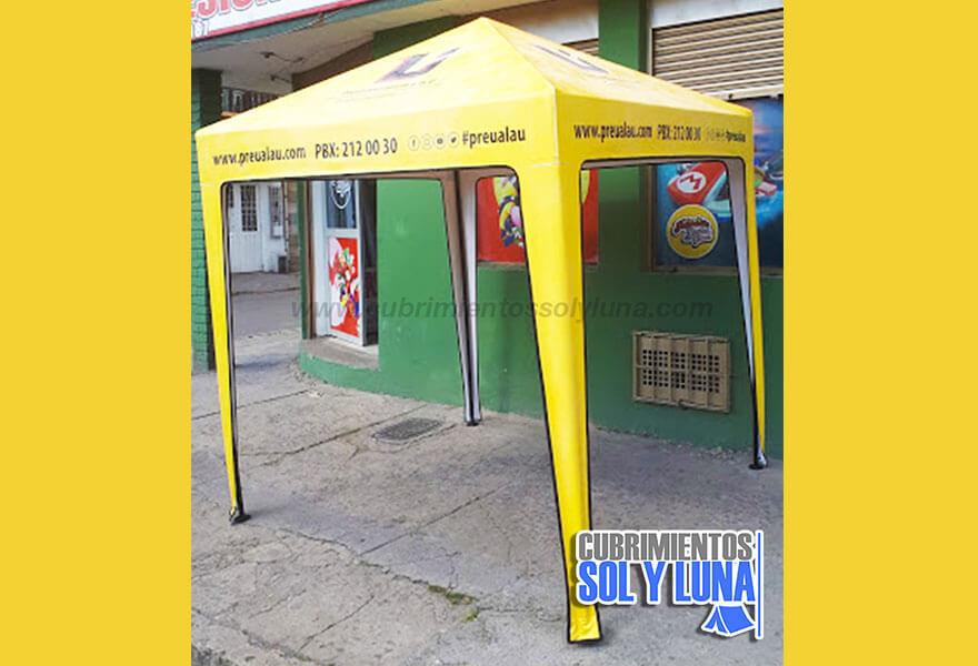 Carpa publicitaria sencilla de 2x2 metros