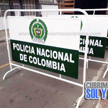 vallas de contención policia nacional